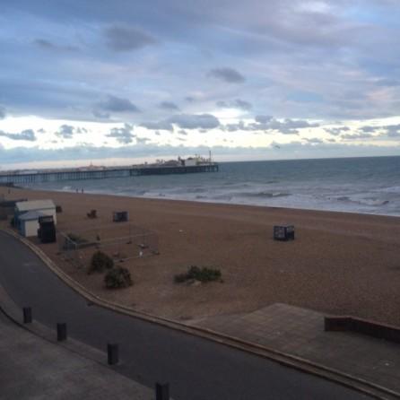 The new pier across the beach